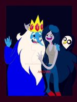 Ice King and Marceline X Gonter by EliMeli