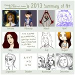 2013 Summary of Art by Ilona-fox