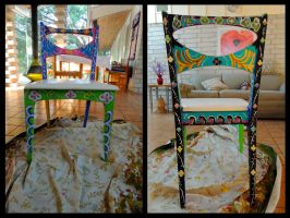 Rosemaling Chair by EricaGriswold