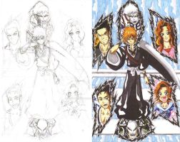 Bleach fan art sketch and color 1 Heritage by d13mon-studios