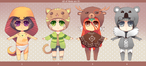 Hat Adoptables [CLOSED] by Andreia-Chan