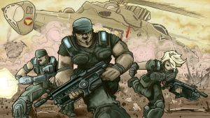 Gears of War Entry 1a by artistjerrybennett