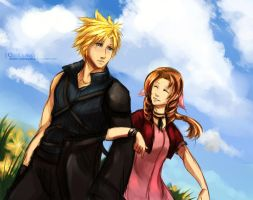 FF7: waiting for our love by deathbybroccoli