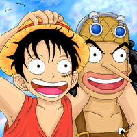 Luffy and Usopp by Sharulia