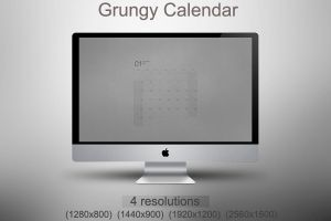 Grungy Calendar all month by kirykid