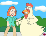 Chicken Catfight by Cpr-Covet