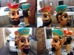 Rajput Warriors Giant Puppet Heads Completed by Caerban