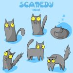 Scaredy reference sheet : 3 by EvilCreampuff