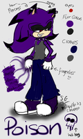 Poison the Hedgehog REF by SEGAgal