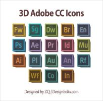 Free Retro 3D Adobe CC Icons by Designbolts