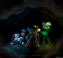 Through The Swirling Darkness (com, Not-gore ver.) by RenateThePony