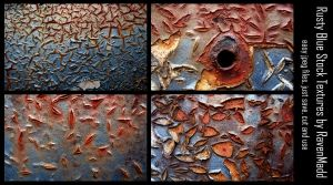 Rusty Blue Stock Textures by RavenMaddArtwork