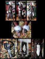 Arctic wolf and deerskin ritual set by lupagreenwolf