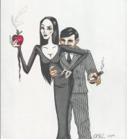 Gomez and Morticia Addams by IndigoVelvet