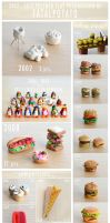 polymer clay progression by FatalPotato