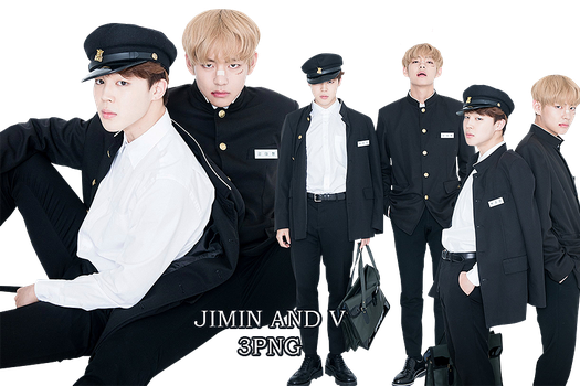 BTS Jimin and V PNG Pack {Real Family Picture} by kamjong-kai