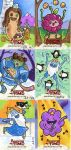 Oh my Glob! Adventure time sketch cards. by artyewok