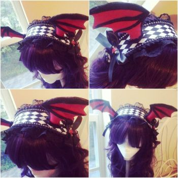 Red and Black Batwing Maidband by NoFlutter