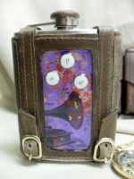 Phonograph steampunk flask by Justenjoyinglife