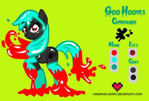 Goo Hooves Reference Sheet Commission by ladypixelheart