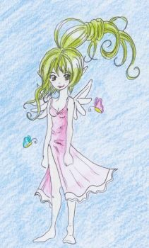 Greenhaired Fairy by suizidhasi