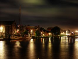 Delft's 'Harbor' at night by mrotsten