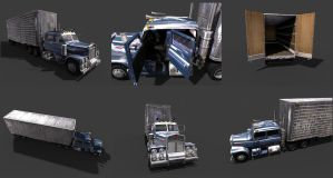 Tractor Trailer by mikemars