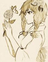 A Flower And A Butterfly by IAmJerry