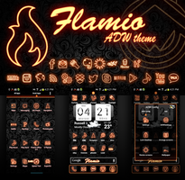 Flamio ADW Theme for Android by cddoulos