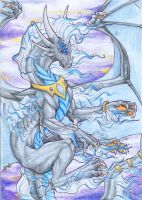Magestic Black Saphire Dragon by toastymc