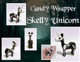 Candy Wrapper - Skelly Unicorn by MalaCembra