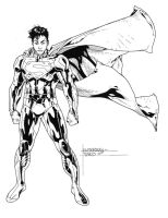 Superman inks 2 by JosephLSilver