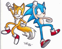 Sonic and Tails by ProSonic