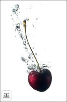 Splashing Cherry by guldogan
