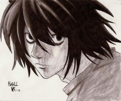 L (Death Note) by knoll94