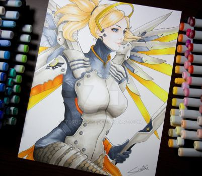Mercy from Overwatch by Tofusenshi