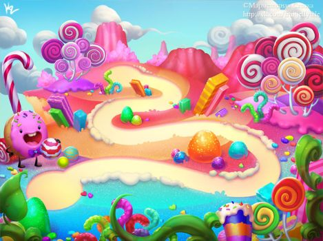 Candy Background 3 by Beffana