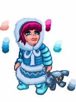 Sad Snow Annie by bluexco