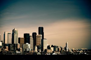 downtown seattle by annbee