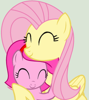 Painterfly and Fluttershy - Sisterly hugs ^^ by Appimena