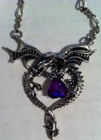 Dragon Charm by StitchedSmile1
