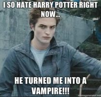 Edward Hates Harry Potter by Chrissiannie