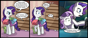 comic rarity and sweetie belle by Fluttershylove12