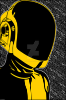 Daft Punk Guy Manuel Stylized Poster by SUBJECT-241