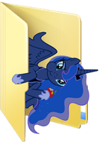 Custom Luna folder icon by Blues27Xx