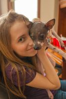 Teenage girl with puppy 1 by thisgirlhasissues