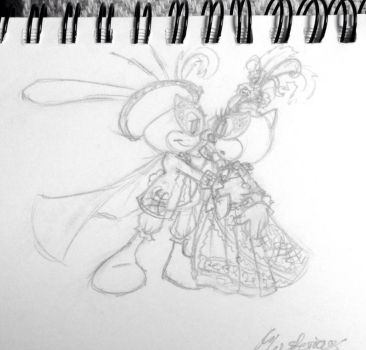 Mysterious Masquerade sketch from October by ShannonAllAround