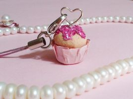 Cupcake Love Cell Phone Charm by kittykatklub1