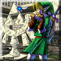 Link playing the Ocarina by TornDragon