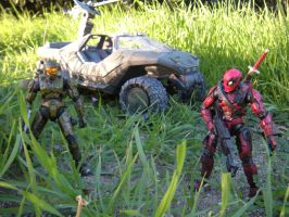 HAlO and Dead Pool by PokepictureFigurefun